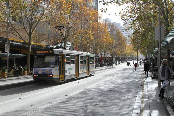 A1.256 heads north on route 67 at Swanston and Bourke Street