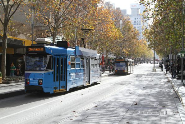 Z3.157 heads north on route 6 at Swanston and Bourke Street