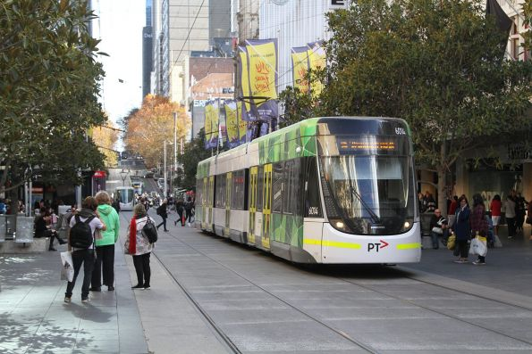 E.6014 heads east on route 96 through the Bourke Street Mall