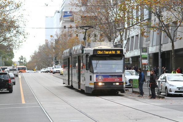 B2.2075 heads south on route 58 at William and Lonsdale Street