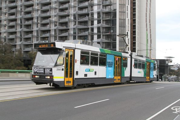 B2.2060 heads east on route 86 over the La Trobe Street bridge