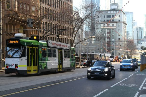 Z3.184 heads south on route 58 at William and Little Collins Street