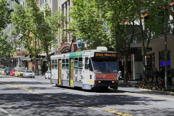 A1.245 heads west on route 12 at Collins and Swanston Street
