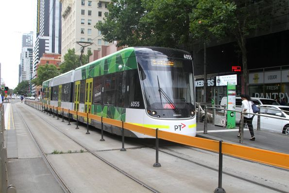 E2.6055 heads south on route 96 at Spencer and Collins Street