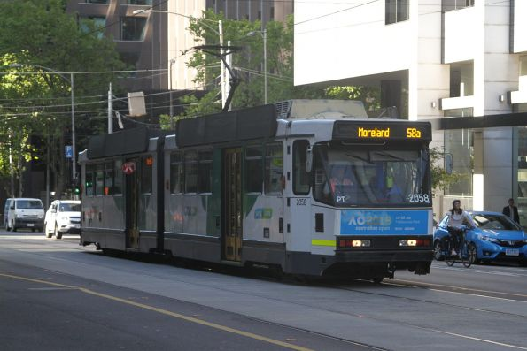 B2.2058 heads north on route 58a to Moreland at William and Bourke Street