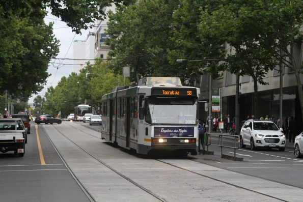 B2.2003 heads south on route 58 at William and Lonsdale Street