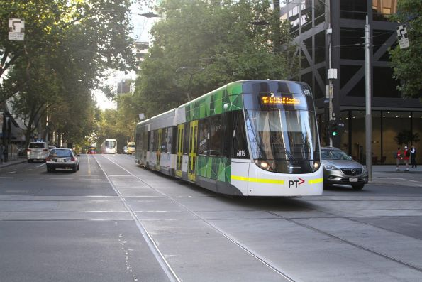 E.6018 heads west on route 96 at Bourke and William Street