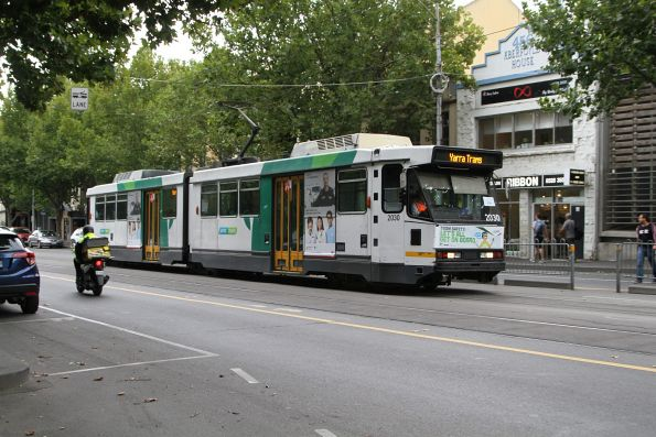 B2.2030 heads east at La Trobe and King Street with a route 30 service