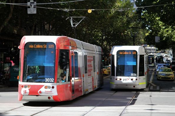 C.3032 and C.3034 cross paths on route 109 at Collins and Elizabeth Street