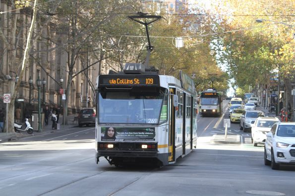 A2.269 heads west on route 109 at Collins and Swanston Street