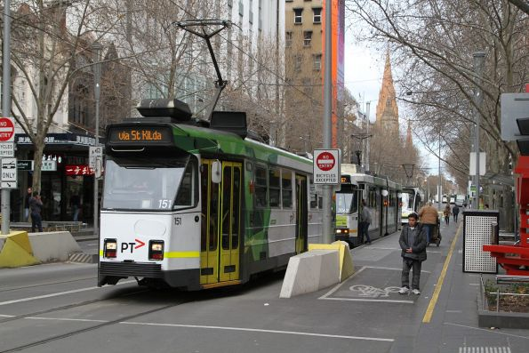 Z3.151 heads north on route 16 at Swanston and Little Bourke Street