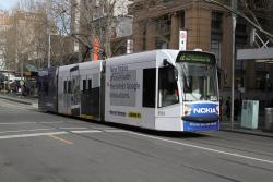 D1.3533 advertising 'Nokia' heads north on route 72 at Swanston and Little Bourke Street