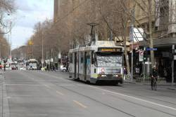 B2.2091 heads north on route 64 at Swanston and Little Collins Street