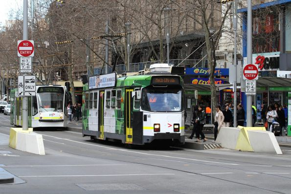 Z3.168 heads north at Swanston and Collins Street