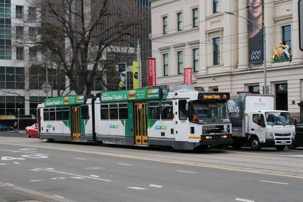B2.2095 heads east on route 75 at Flinders and Market Street