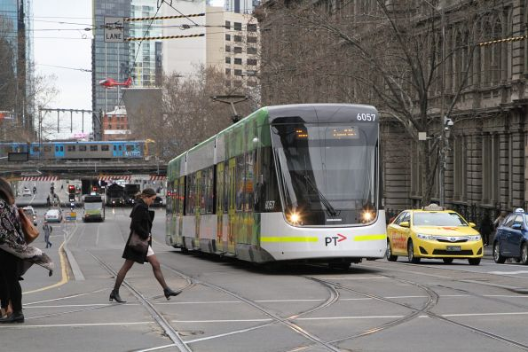 E2.6057 heads north on route 96 at Spencer and Collins Street
