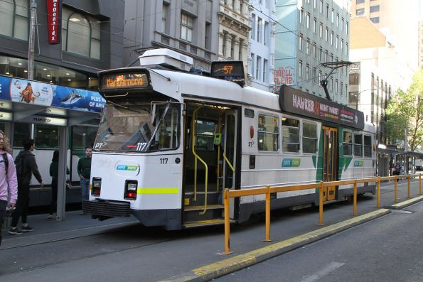 Z3.117 waits at the Elizabeth Street terminus with a route 57 service