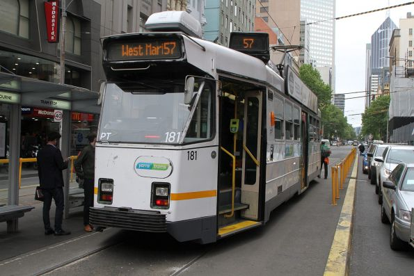 Z3.181 on route 57 at the Elizabeth Street terminus