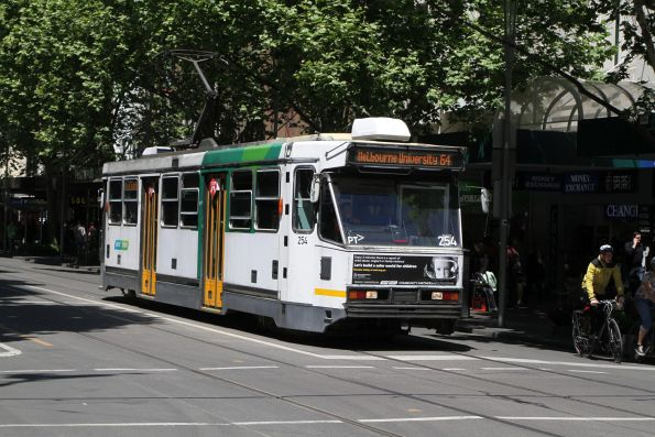 A1.254 heads north on route 64 at Swanston and Bourke Street