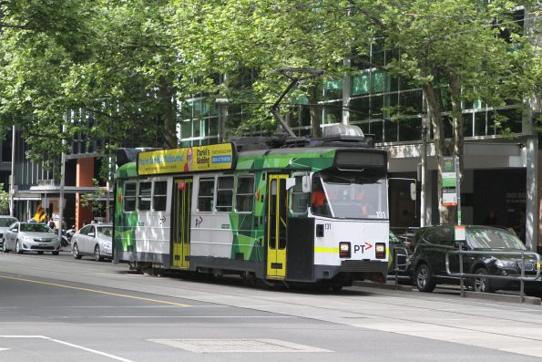 Z3.131 out of service headed north at William and Lonsdale Street