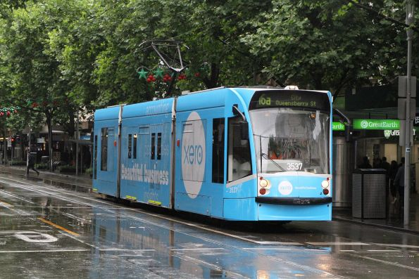 D1.3537 advertising 'Xero' northbound on route 16a at Swanston and Bourke Street