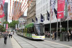 E2.6051 heads east on route 96 through the Bourke Street Mall