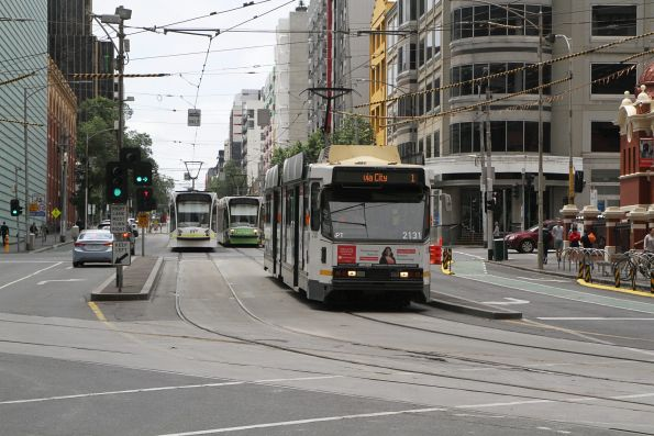 B2.2131 heads south on route 1 at Swanston and Franklin Street