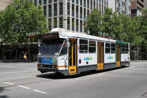 A1.248 heads east on route 12 at Collins and Swanston Street