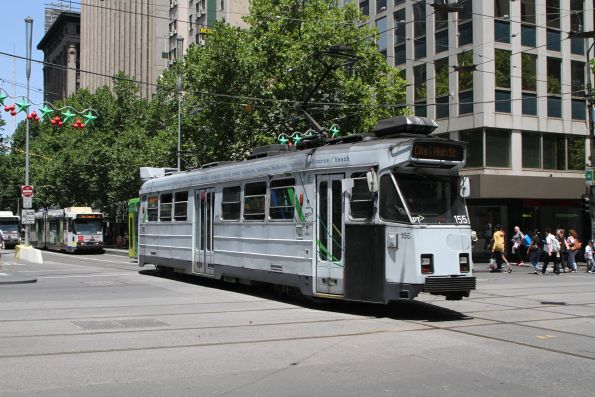 Z3.155 heads south on route 6 at Swanston and Collins Street