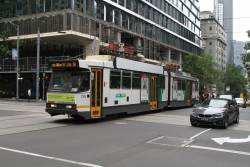 B2.2106 heads north on route 58 at William and Collins Street