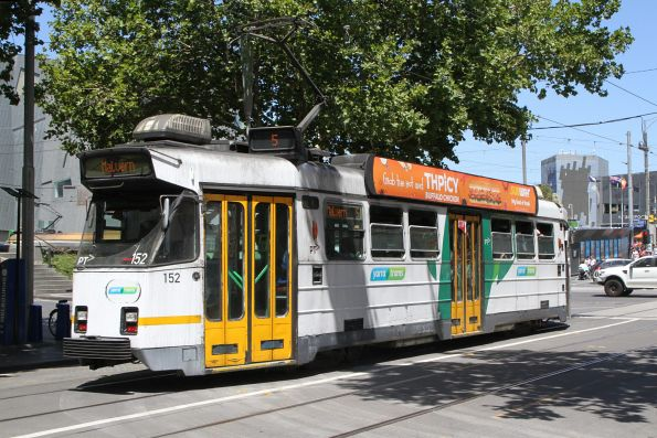 Z3.152 heads south on route 5 at Swanston and Flinders Street