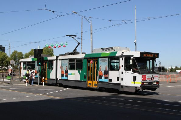 B2.2060 heads west on route 75 at Flinders and Russell Street