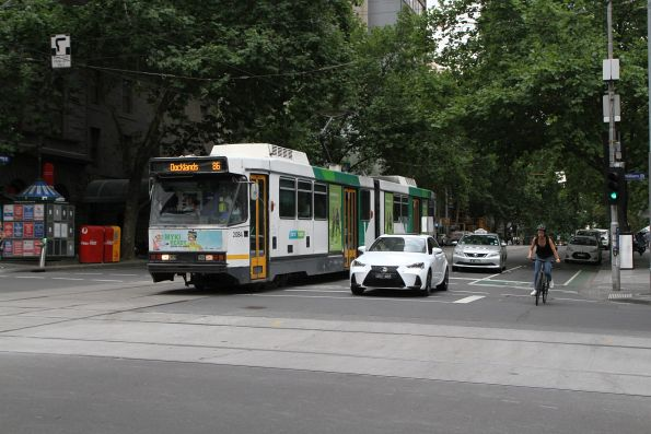 B2.2084 heads west on route 86 at Bourke and William Street