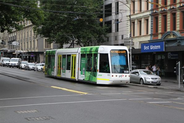 C.3020 heads south on route 109 at Spencer and Flinders Street