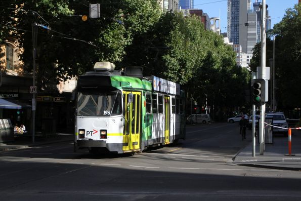 Z3.196 heads south at Swanston and Collins Street