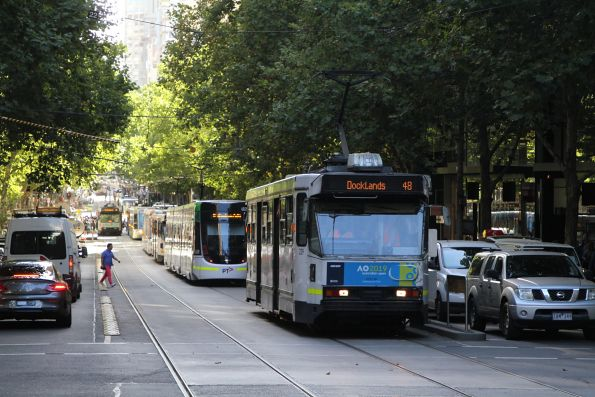 Failed tram A1.239 stopped on route 48 at Collins and Queen Street