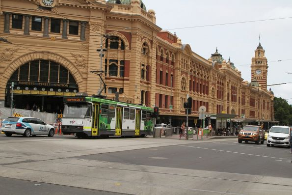 A2.278 in fresh PTV livery on route 70 at Flinders and Swanston Street