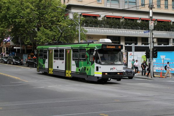 A2.288 heads west on route 48 at Collins and Swanston Street