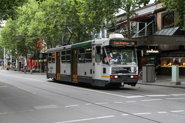 A1.254 heads south on route 64 at Swanston and Little Collins Street