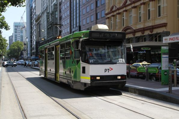 A2.278 heads east on route 70 at Flinders and Elizabeth Street
