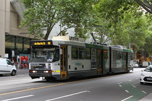 B2.2030 heads west on route 86 at Bourke and William Street