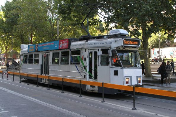 Z3.218 heads south on route 3 at Swanston and La Trobe Street
