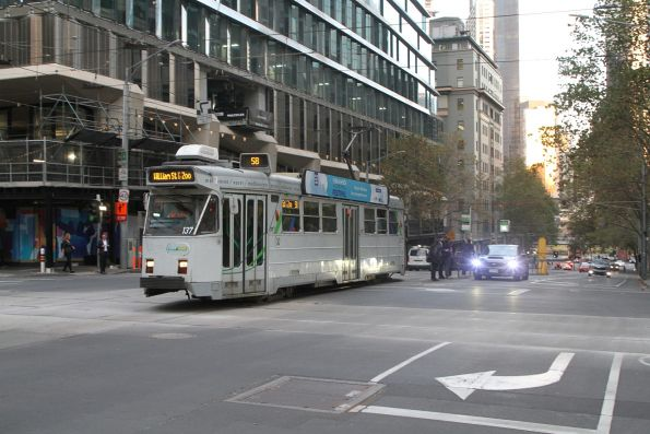 Z3.137 heads north on route 58 at William and Collins Street