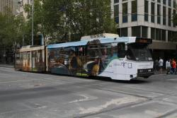 B2.2004 advertising 'Tourism Indonesia' heads north on route 1 at Swanston and Collins Street