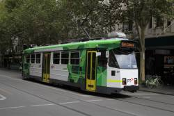 Z3.189 heads north on route 1 at Swanston and Bourke Street