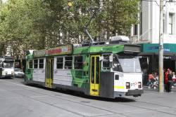 Z3.225 heads north on route 67 at Swanston and Bourke Street