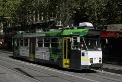 Z3.126 heads north on route 72 at Swanston and Collins Street