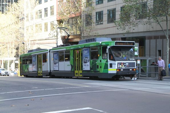 B2.2034 heads north on route 58 at William and Collins Street