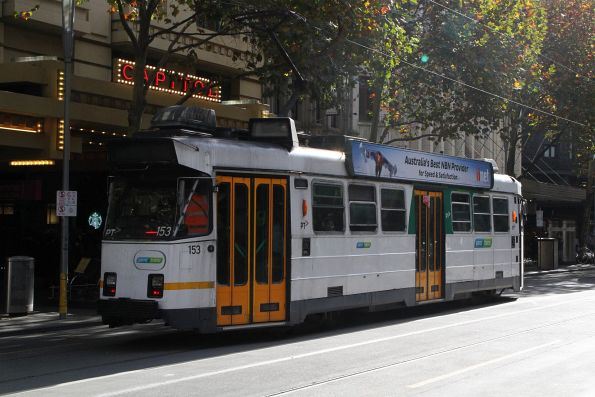 Z3.153 heads north at Swanston and Collins Street