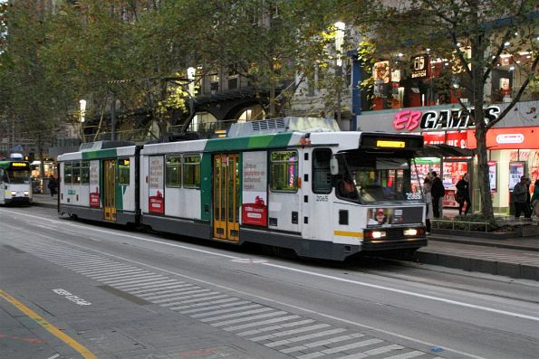 B2.2065 heads north out of service at Swanston and Collins Street